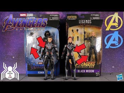 Marvel Legends Avengers Endgame Hawkeye & Black Widow Kitbash Switch
