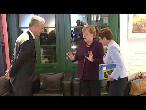17.01.2020 - Treffen Angela Merkel, Jens Stoltenberg & AKK - Klausurtagung CDU-Bundesvorstand