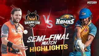 Brampton Wolves vs Winnipeg Hawks | Semi-Final Match  Highlights |  GT20 Canada 2019
