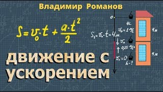 кинематика РАВНОУСКОРЕННОЕ ДВИЖЕНИЕ 10 класс видеоурок