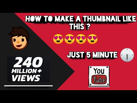 How To Make Attractive Youtube Thumbnail On Android । Expert TV