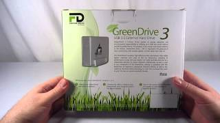 Fantom Drives GreenDrive 3 2TB External Hard Drive (GD2000U3P) Unboxing