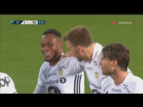 Nicklas Bendtner goal (Strømsgodset 0-1 Rosenborg)
