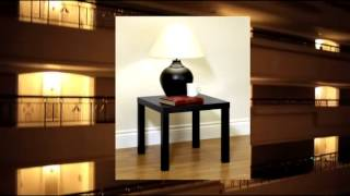 Parson's End Table In Black Sturdy In Espresso Or Natural Wood And Easy To Assemble By Dhp (3536196)
