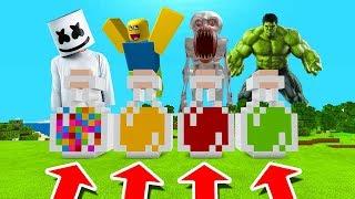 Minecraft PE : DO NOT CHOOSE THE WRONG POTION! (Marshmello, Roblox, SCP-096 & Hulk)