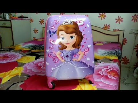 Sofia princess Disney kids trolley bag Unboxing and Review