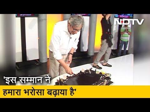 Prime Time: ...सहयोगियों ने कुछ यूं Celebrate की Ravish Kumar की कामयाबी