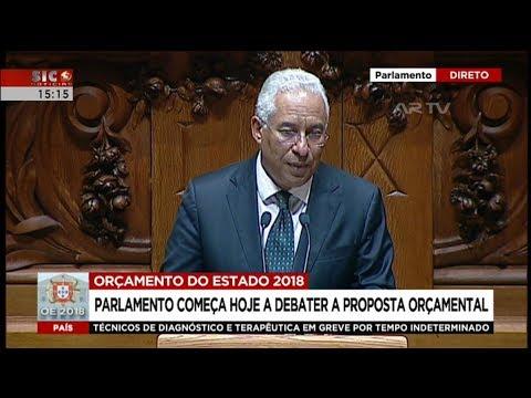 António Costa | OE2018 | Debate Parlamentar