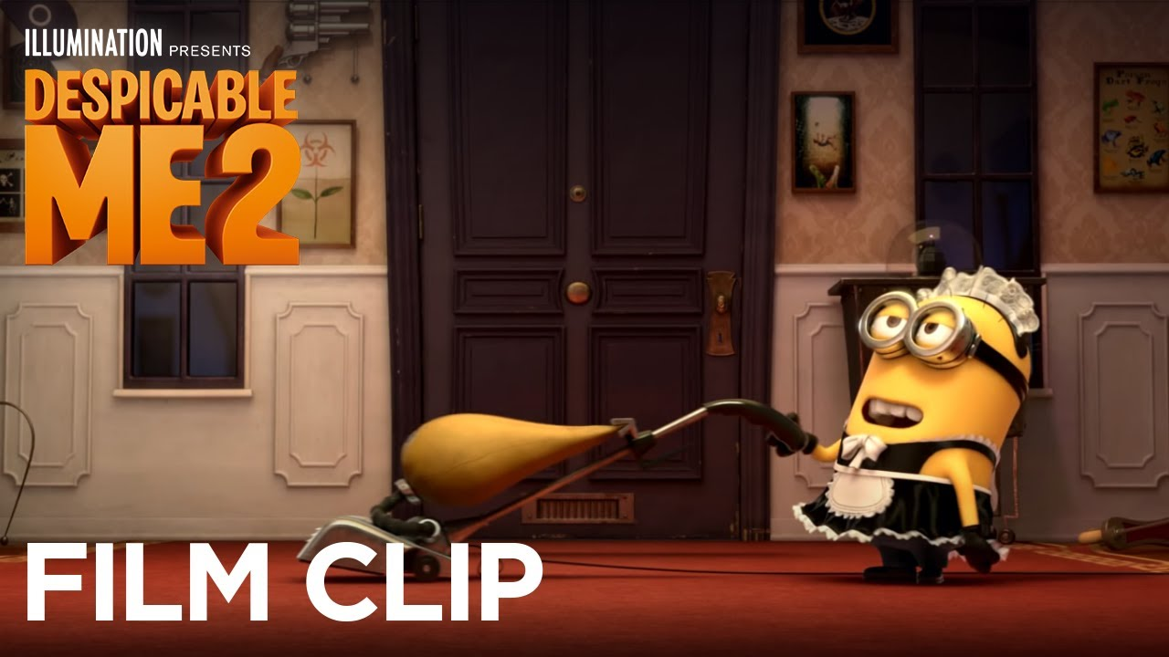 Girls Feature Wallpaper Despicable Me 2 Clip Quot Minion Phil Enjoying Work As A