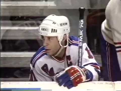 Vintage NY Rangers Pregame CEREMONY 2/29/88 MARCEL DIONNE CEREMONY BRIAN LEETCH DEBUT