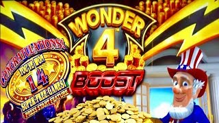 WONDER 4 BOOST★SUPER FREE GAMES★FIRST ATTEMPT 2019★CASINO GAMBLING