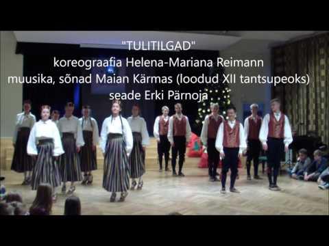 """Türi Ühisgümnaasiumi rahvatantsurühm """"Ruuben&Nele""""  Türi Põhikooli 4.-6. klasside jõulupeol"""