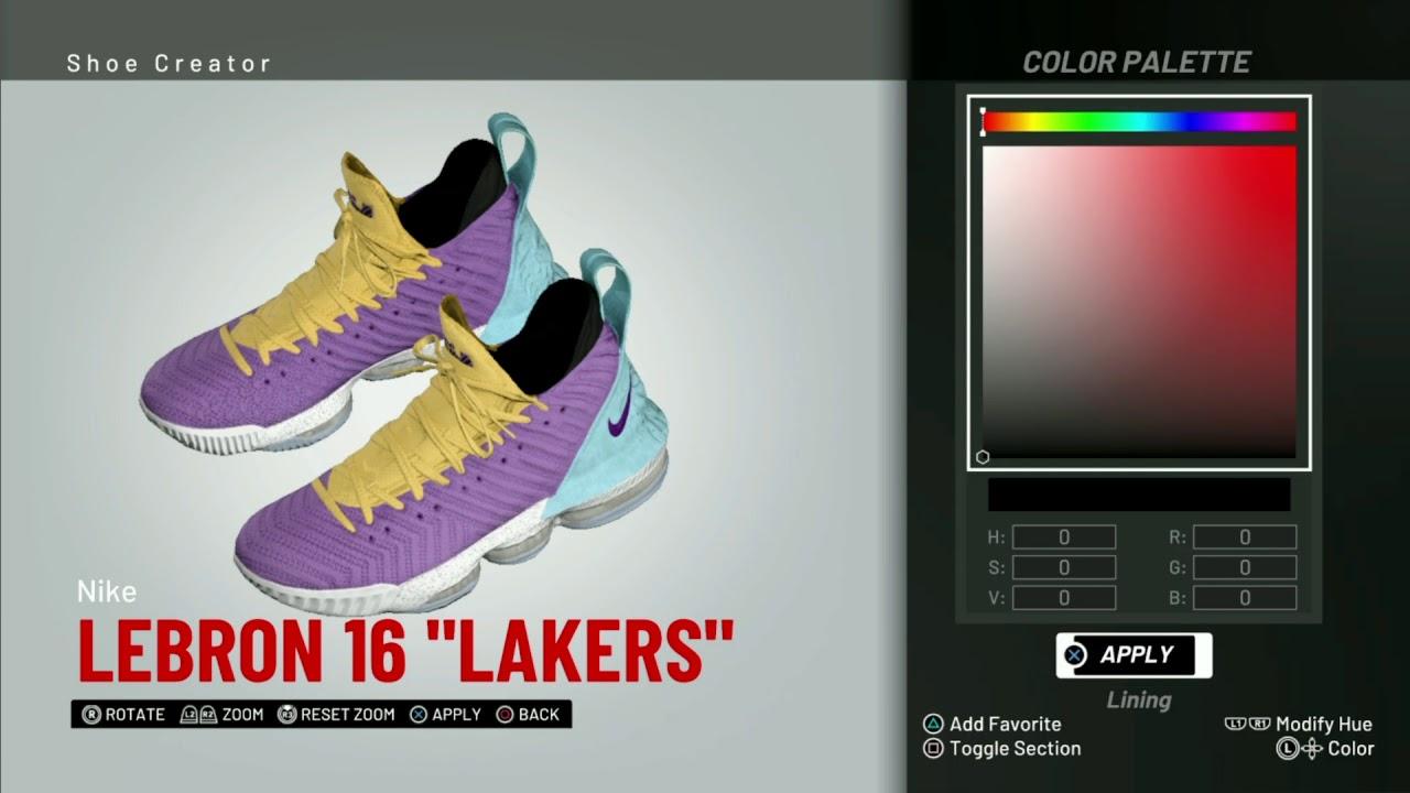 NBA 2K19 Shoe Creator Nike LeBron 16
