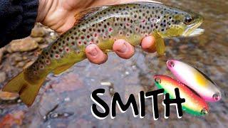 Рыбалка весной по ловли форели на блесна Smith с Алиэкспресс