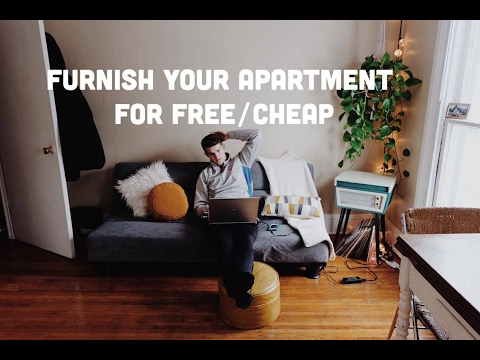 How to furnish your apartment for FREE/CHEAP | Apartment Hau