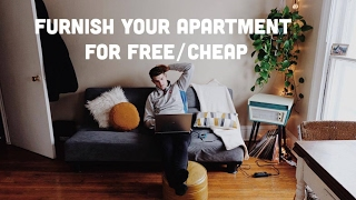 How to furnish your apartment for FREE/CHEAP | Apartment Haul