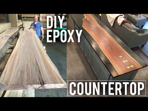DIY Epoxy Countertop-How to Woodworking