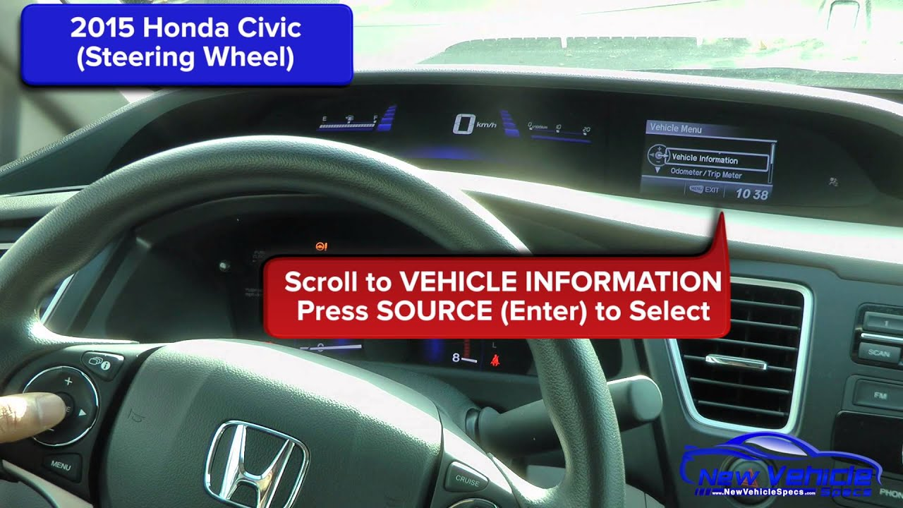 2017 Honda Civic Oil Light Reset Life Steering Wheel You