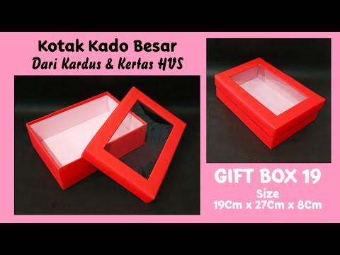 GIFT BOX 19 - Kotak Kado Besar Dari Kardus Dan Kertas HVS - Cardboard Craft