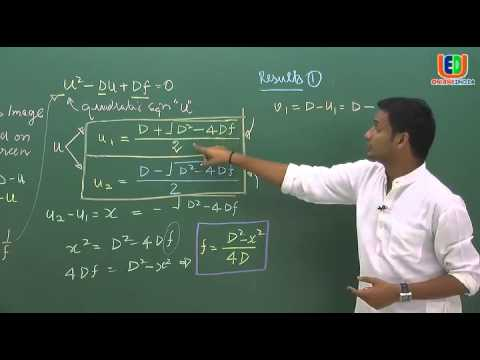 IIT JEE: Physics Video lectures - Displacement method for Lens in geometrical optics