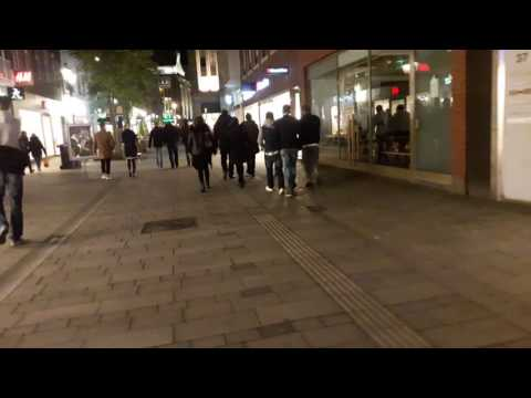 Night life in Dusseldorf Germany 2016-2