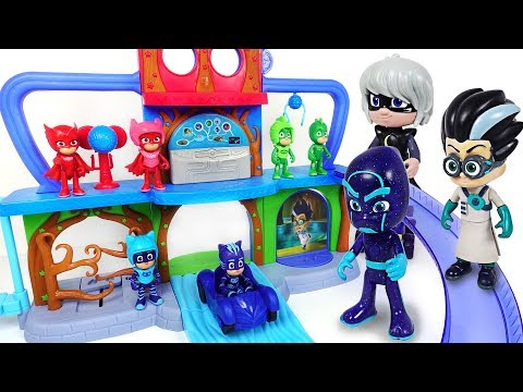 Villains Are Transform Into Huge Size! PJ Masks! Defend Headquarters Playset! - DuDuPopTOY