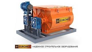 ОБЗОР ДВУХВАЛЬНОГО БЕТОНОСМЕСИТЕЛЯ EUROMIX 620.800