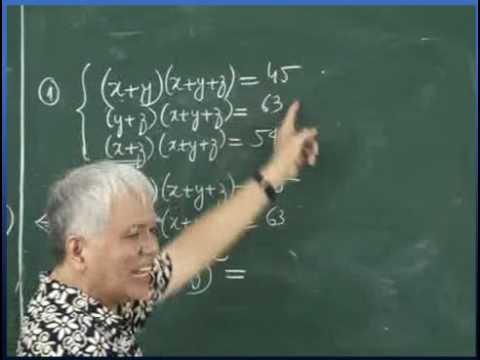 PP biến đổi tương đương để giải hệ phương trình Bài tập 1