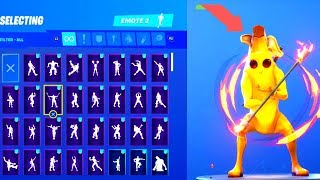 *NEW* PEELY SKIN (BANANA SKIN) SHOWCASE WITH ALL FORTNITE DANCES (Fortnite Season 8 Skin)