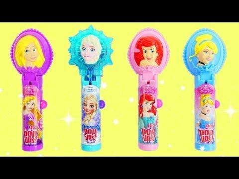 Disney Princess Lollipop Pop Ups with Princesses Frozen Elsa, Ariel, Rapunzel & Cinderella