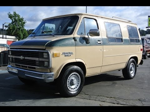 1 Owner 1984 Chevy G20 Conversion Van Mini Rv Camper 1500 Pickup