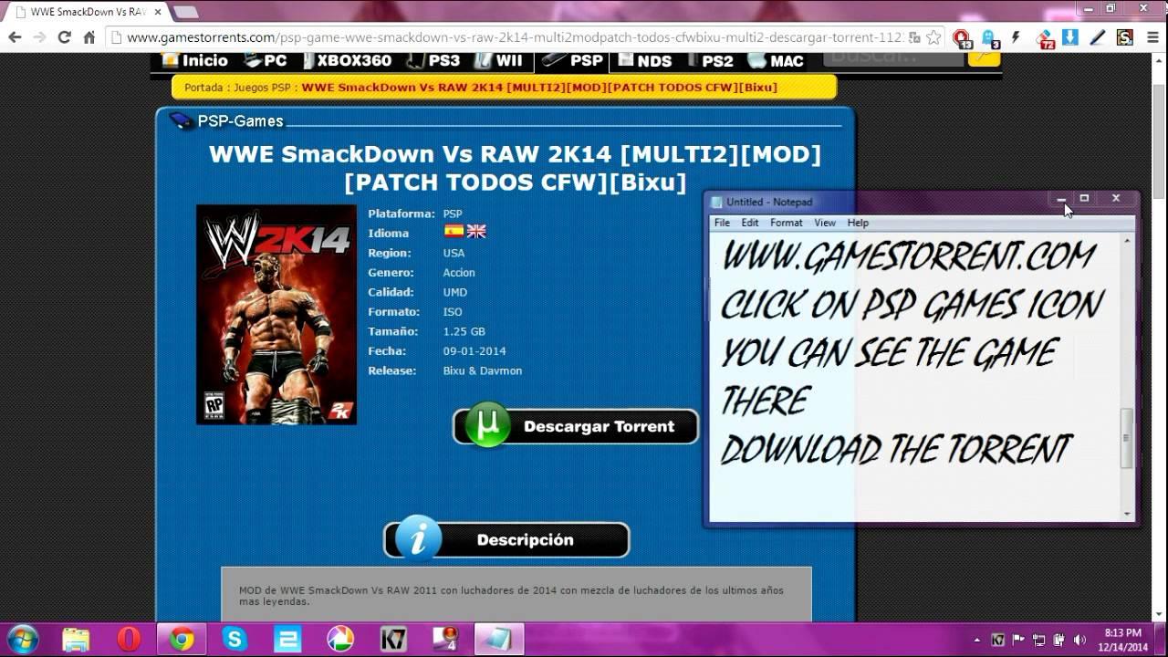 Wwe 2k14 psp iso torrent download tutorial