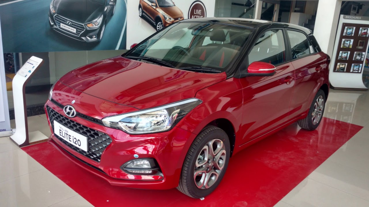 Hyundai New 2018 Elite I20 Asta Variant Red Passion Dual Tone Colour