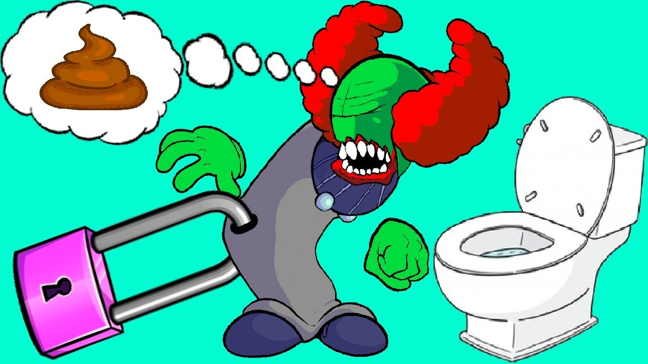 Download TRICKY's tummy doesn't work. He blew up the toilet. Friday Night Funkin animation