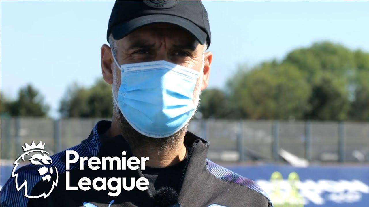 Pep Guardiola speaks as Manchester City train for Premier League restart | NBC Sports