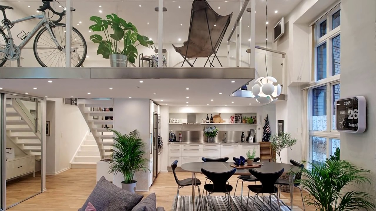 Charming Small Studio Loft Apartment Design   28 Ideas: Beautiful And Modern Lofts    YouTube Part 14