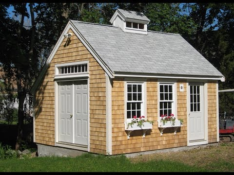 Free 12x16 shed plans with material list youtube for Shed plans and material list
