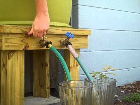 Rain Barrel Water Pressure Volume Demonstration Youtube