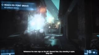 Battlefield 3 Campaign Hard Difficulty Walkthrough - Night Shift [1 of 3]