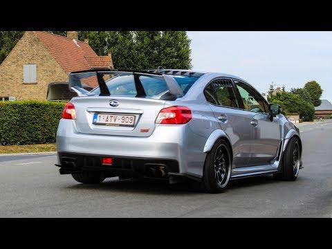 Modified cars leaving a car show 2018   Slammed Sunday 3
