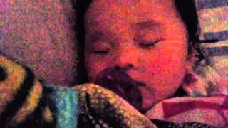 Baby Leah- snoring away after for 6 months shots 01/04/16