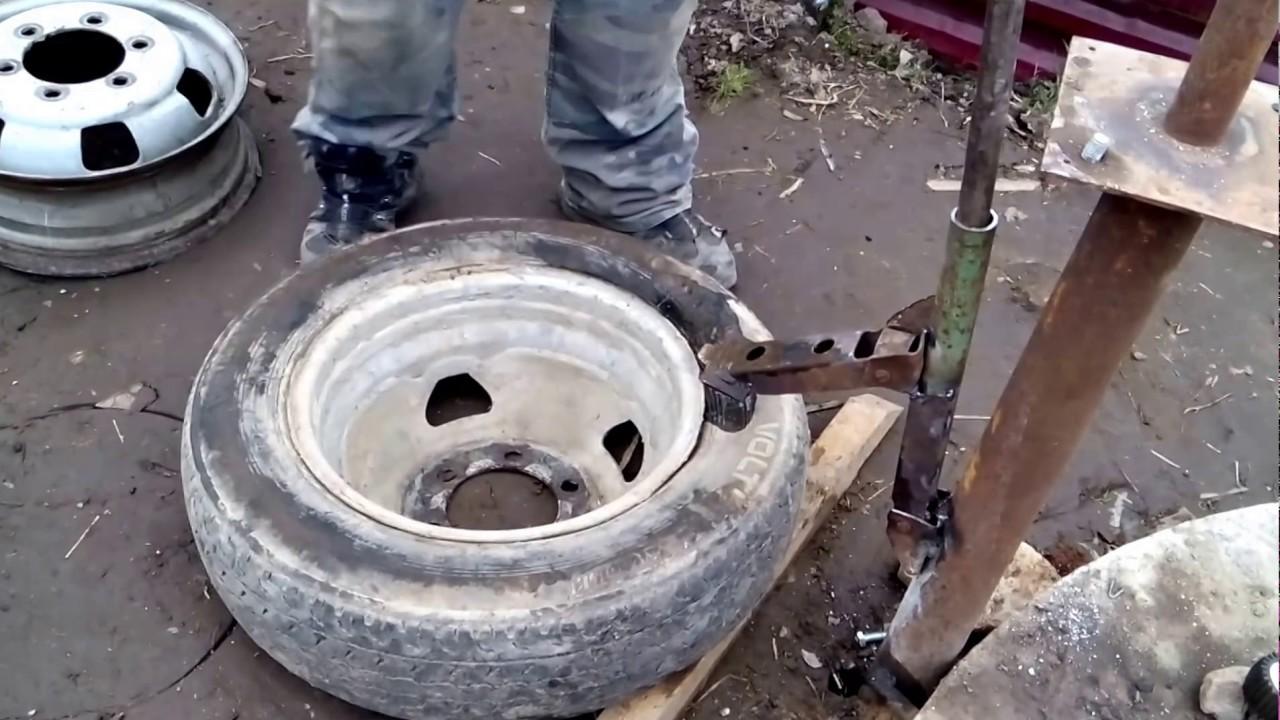 Самодельный шиномонтажный станок своими руками видео фото 853