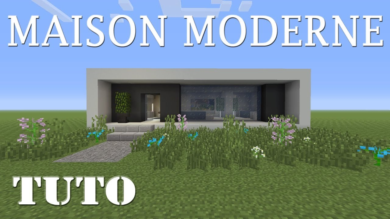 Minecraft maison moderne facile faire ps4 youtube - Faire plan maison facile ...