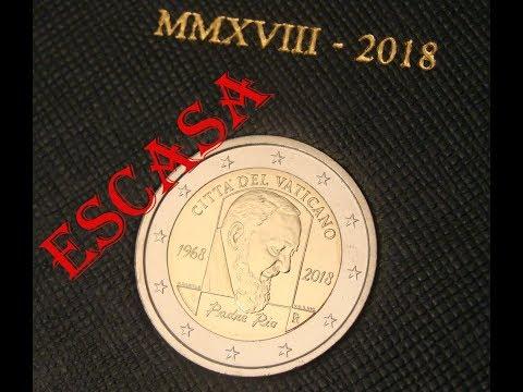 2 Euros Conmemorativos Del Vaticano 2018