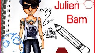 Topmodel Malbuch | How to draw Julien Bam | malen | Copics || Foxy Draws