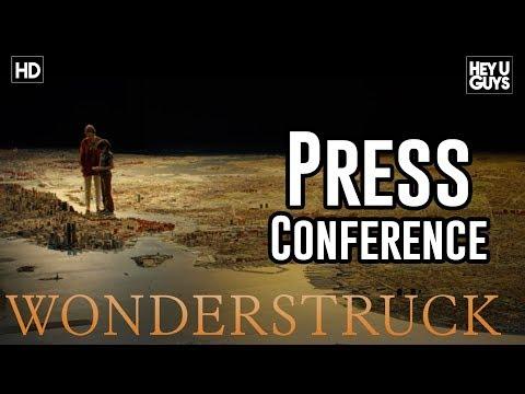 Wonderstruck Press Conference   Todd Haynes, Oakes Fegley, Julianne Moore, Michelle Williams.