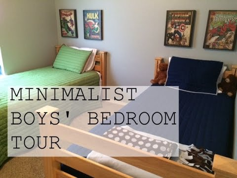 minimalist super hero boys bedroom tour family minimalism youtube rh youtube com