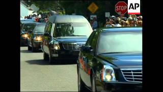WRAP Cemetery, vox pops, motorcade leaves family compound