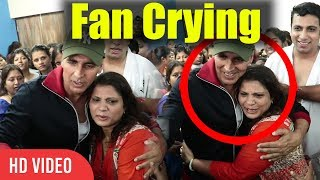 Akshay Kumar Fan Crying | Emotional | Akshay Kumar Craziest Fan Crying