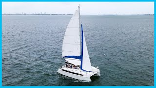 SAILING The $150,000 New Cruising Catamaran   Learning the Lines